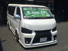 Customised Vans, Custom Vans, Japanese Domestic Market, Toyota Hiace, Van Design, Mini Bus, Rising Sun, Jdm Cars, Nice Cars