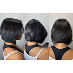 Newest Totally Free Best Bob Hairstyles for Black Women Pictures in 2019 Suggestions Who developed the Bob hair? Bob has been primary the league of trend hairstyles for decades. Layered Bob Hairstyles For Black Women, Bob Hairstyles For Thick, Black Girls Hairstyles, Relaxed Hairstyles, Bob Hairstyles 2018, Diy Hairstyles, Hairstyles Pictures, Pixie Haircuts, Amazing Hairstyles