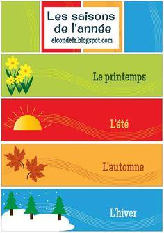 El Conde. fr: Les saisons de l'année