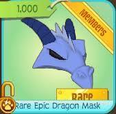 Rare Epic Dragon Mask have