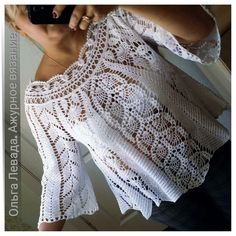 Discover thousands of images about Long-sleeved crochet lace tunic crochet tunic Gilet Crochet, Lace Tunic, Crochet Jacket, Crochet Cardigan, Crochet Baby, Crochet Top, Lace Sweater, Hat Crochet, Crochet Designs