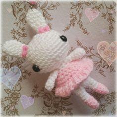 Ballet dancer bunny  #crochet #amigurumi #crochetbunny