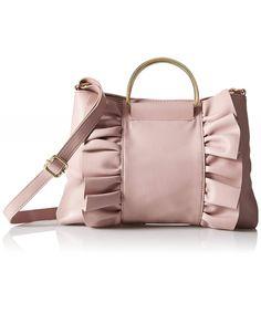 & Geanta Dama T-Shirt & Jeans Ruffles Ring Handle Crossbody Mauve Bridal Clutch Bag, Diy Bags Purses, Jute Bags, Small Rings, Denim Bag, Fabric Bags, Fashion Bags, Fashion Handbags, Leather Clutch