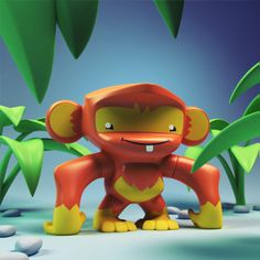 """""""Minkey"""" is a vinyl toy design for younger collectors and cute toy monkey lovers."""