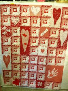Fun Red and White quilt