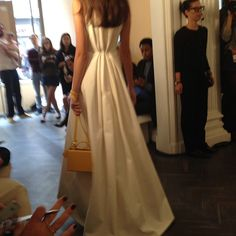 The dreamiest of dresses at Emilia Wickstead. Made for dramatic exits. Always leave them wanting more. #lfw