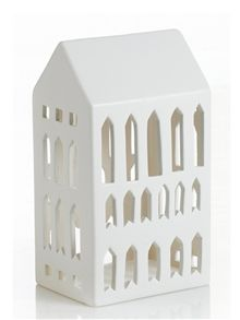 Skab din egen by med lyshuse i porcelæn - der findes flere forskellige der kan sættes sammen