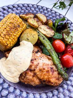 Chris Brown And Royalty, Tzatziki, Lchf, Tandoori Chicken, Grilling, Bbq, Turkey, Food And Drink, Diet