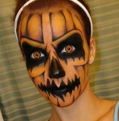 Trucco Halloween da zucca Cool Halloween Makeup, Scary Makeup, Halloween Makeup Looks, Halloween Kostüm, Halloween Pumpkins, Horror Makeup, Awesome Makeup, Skull Makeup, Halloween Series