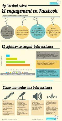 La verdad sobre el engagement en FaceBook #infografia #infographic #socialmedia #searchengineoptimizationfacebook