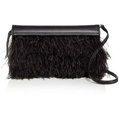 Max Mara Feather Evening Clutch (811,440 KRW) ❤ liked on Polyvore featuring bags, handbags, clutches, feather handbag, special occasion handbags, special occasion purses, evening clutches and feather purse