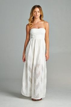 Crochet Cutout Maxi Dress