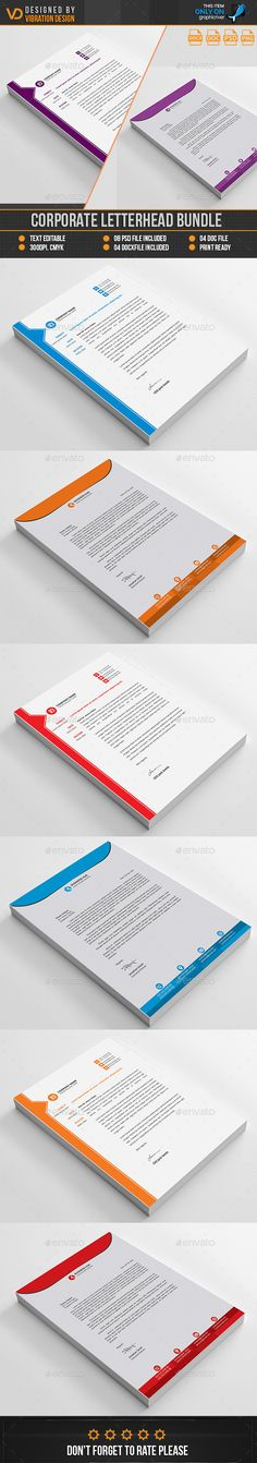 50 best corporate letterhead inspiration images on pinterest brand corporate letterhead bundle by kawsarnshimo thecheapjerseys Images