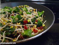 FRESH BEAN SPROUT STIR-FRY- Vegan, Gluten-Free & Oil-Free