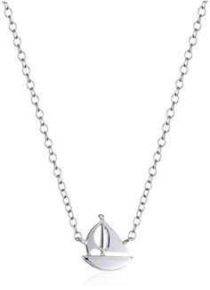 Sterling Silver MiniSailboat Pendant Necklace 16  2 Extender >>> You can find out more details at the link of the image.