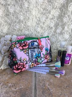 Floral Wars Cosmetic Bag Toiletry Kit Makeup Bag Project