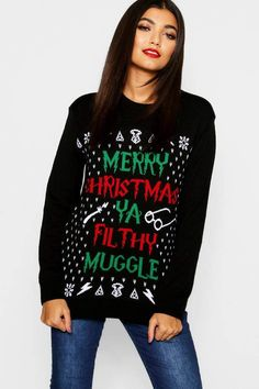 2f6e009e Ya Filthy Muggle Christmas Jumper #ad Christmas Jumpers, Christmas Sweaters,  Moisturizer, Sporty