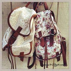 Lace and floral backpacks