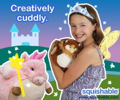 What could be more adorable than a cute 'lil princess with her equally cute squishables? I think nothing! #squishable #cutengeeky