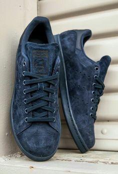 promo code 4d8a7 4506d Midnight Adidas Stan Smith Shoes, Adidas Suede Shoes, Adidas Stan Smith  Women, Addidas