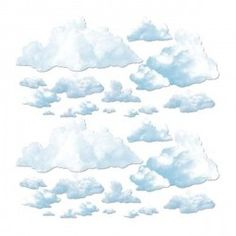 Clouds Wall Decor 23 Piece - 5 Ft Party Supplies Canada - Open A Party Princess Party Supplies, Princess Theme Party, Unicorn Party Supplies, Sesame Street Party, Sesame Street Birthday, Elmo Birthday, Birthday Party Themes, Office Party Decorations, Wall Decorations