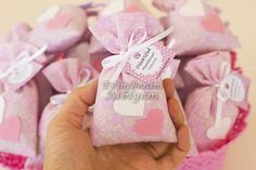 Lavander sachets for wedding, including one pair heart
