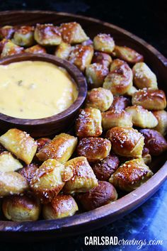 Perfect Pretzel Bites with Cheesy Jalapeno Ranch Dip | http://www.carlsbadcravings.com/perfect-pretzel-bites-with-cheesy-jalapeno-ranch-dip/