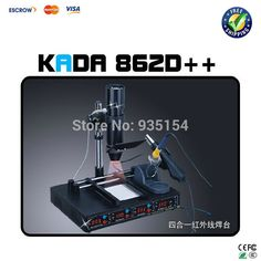KADA 862D++ 4 in 1 Auto IRDA Infrared welding station BGA rework station soldering station #Affiliate