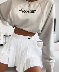 Tennis Outfits, Tennis Skirts, Tennis Dress, Tennis Clothes, Nike Skirts, Skater Outfits, Nike Clothes, Cheer Skirts, Retro Outfits