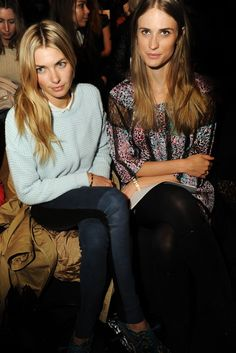 Jessica Hart and Julie Henderson Front Row at BCBG Max Azria