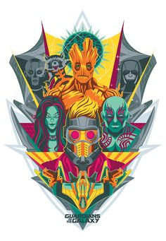 Guardians of the Galaxy art by artist Chad Woodward