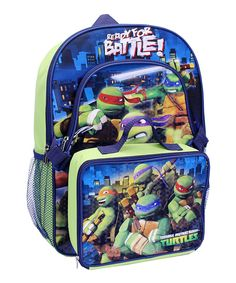 Look what I found on #zulily! TMNT 16'' Backpack & Lunch Bag Set by Teenage Mutant Ninja Turtles #zulilyfinds