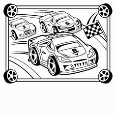 printable race cars coloring pages