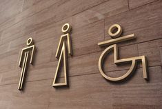 Conception of a minimalist toilet sign for an interior designer. Cafe Signage, Hotel Signage, Office Signage, Wayfinding Signage, Signage Design, Cafe Design, Toilet Signage, Bathroom Signage, Wc Icon