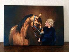 Efrit&Floor Oil painting made by Sabien Delhez (NL)