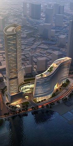 Xiamen Eton Center North Tower, China, by NBBJ Architects #rascacielos #edificios #skyscrapers #buildings | Rascacielos / Skyscrapers | Pinterest | Sagittarius…