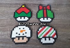 Geek Characters made with Perler Beads! Melty Bead Patterns, Perler Patterns, Beading Patterns, Perler Bead Templates, Diy Perler Beads, Super Mario Bros, Perler Bead Mario, Christmas Perler Beads, Pearl Beads Pattern