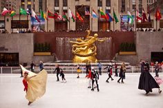 Ice Rink at Rockefeller Center | Ice Rink - Go from October 8 - November 3, half the price and half the wait