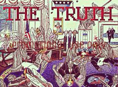The Truth - Things are not what they seem to be in the White House --- Another piece drawn with ink pens -- This Artwork is brought to you by Nathan Walsh's Dark Science Fiction Novel, Pursuit of the Zodiacs -- Share and Support Thank You!