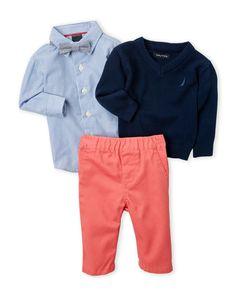 Nautica (Infant Boys) 4-Piece Sweater Set
