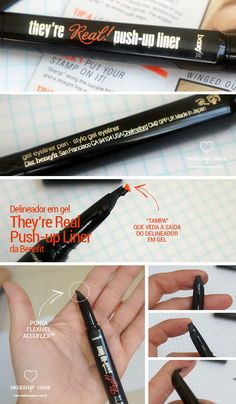 Resenha do Delineador em formato de caneta They're Real Push-up Liner da Benefit