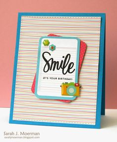 My Impressions: Simon Says Stamp Smile Journal Card (& GIVEAWAY)!