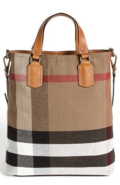 Free shipping and returns on Burberry Brit 'Tottenham - Medium' Tote at Nordstrom.com. Classic checks and smooth leather trim add signature sophistication to an earthy canvas tote topped with an optional crossbody strap for effortless, on-the-go versatility.