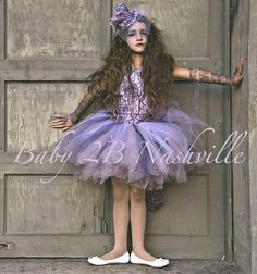Victorian Ghost Costume in Lavender and Gray by Baby2BNashville