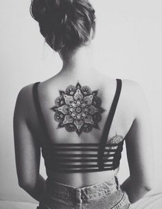 Mandala Back Tattoo for Girl - 30  Intricate Mandala Tattoo Designs  <3 <3