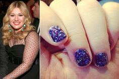 Kelly Clarkson's Nail Art at the 2013 Grammy Awards. A lacquer custom-made for her!