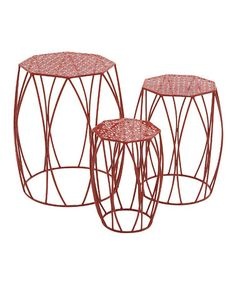 This Red Plant Stand Set is perfect! #zulilyfinds