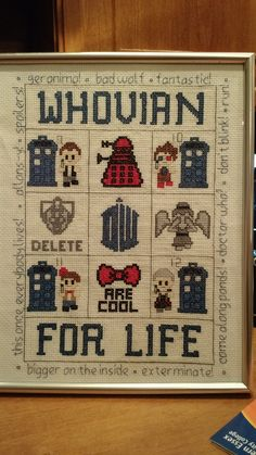 Doctor Who crafts, cross stitch and knitting - amazing Doctor Who fan art