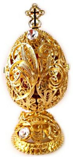 Faberge Egg Openwork Virgin Mary Imperial Russian Romanov Jewelry ...