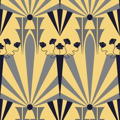 Golden Age of Art Deco  fabric by vo_aka_virginiao on Spoonflower - custom fabric